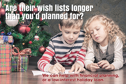 We can help with a holiday loan